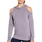 CALIA by Carrie Underwood Women's Effortless Cold Shoulder Hoodie