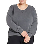 CALIA by Carrie Underwood Women's Plus Size Effortless Pullover Sweatshirt