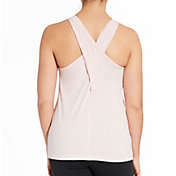 CALIA by Carrie Underwood Women's Heather Cross Back Tank Top