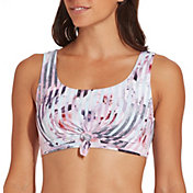 CALIA by Carrie Underwood Women's Knot Front Swim Top