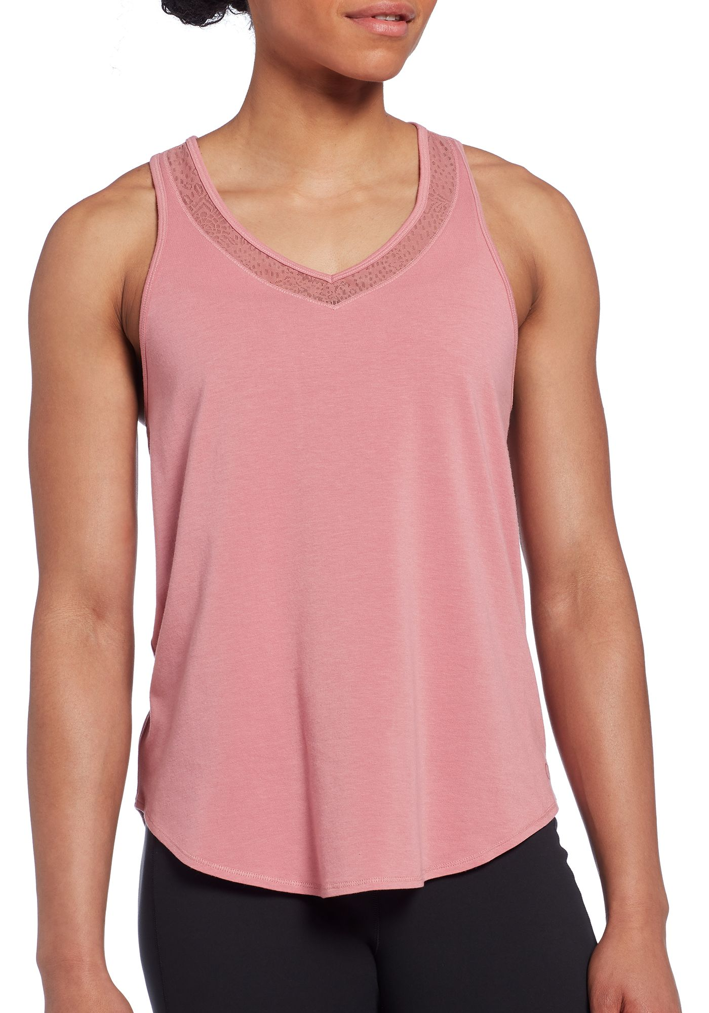 CALIA by Carrie Underwood Women's Lace Panel Tank Top