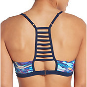 CALIA by Carrie Underwood Women's Pattern Ladder Back Swim Top