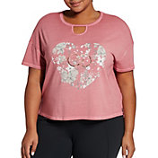 CALIA by Carrie Underwood Women's Plus Size Graphic Boxy T-Shirt