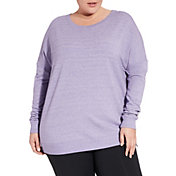 CALIA by Carrie Underwood Women's Plus Size Effortless Zip Detail Sweatshirt