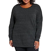CALIA by Carrie Underwood Women's Plus Size Effortless Zip Detail Sweatshirt