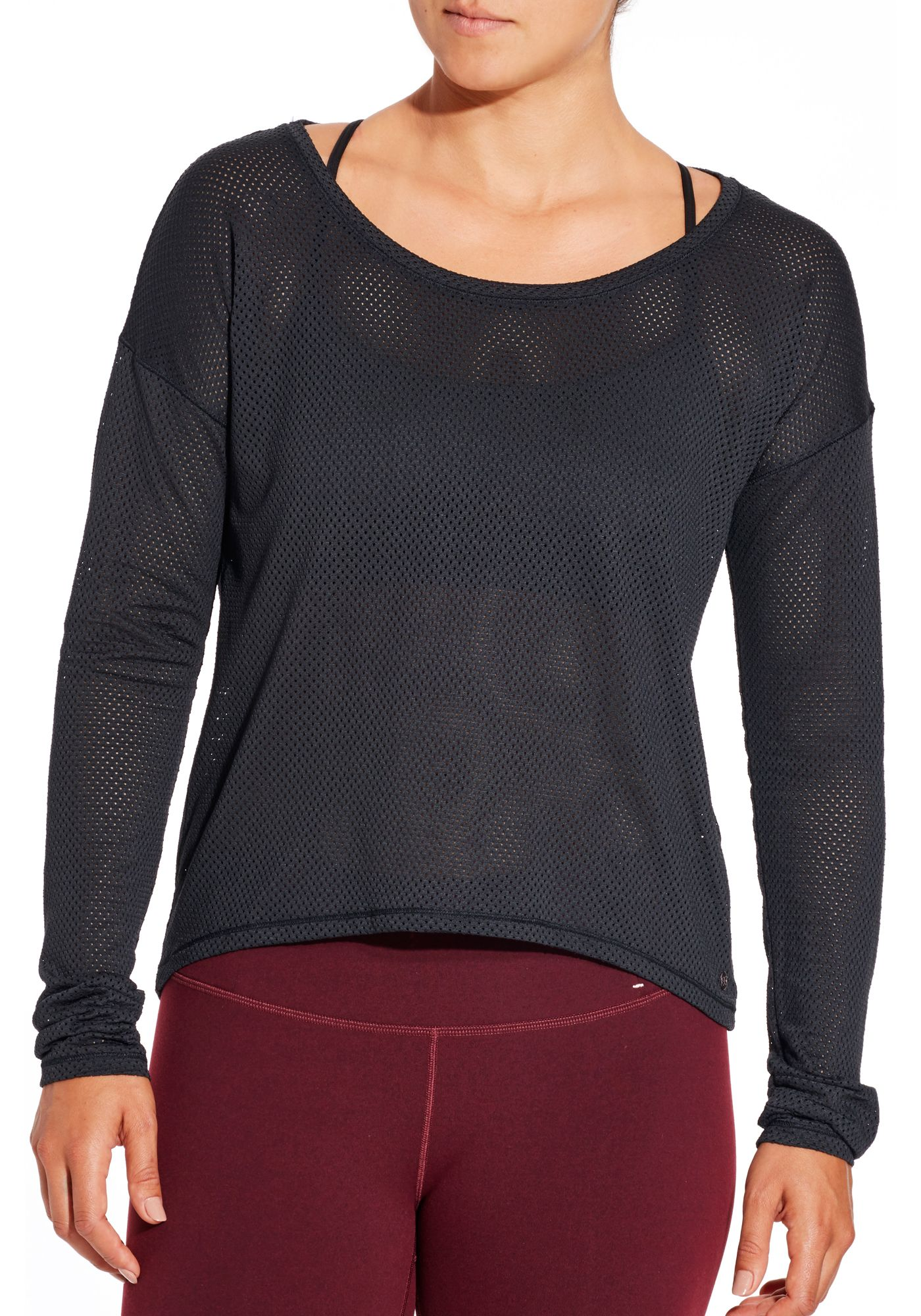 CALIA by Carrie Underwood Women's Mesh Long Sleeve Shirt