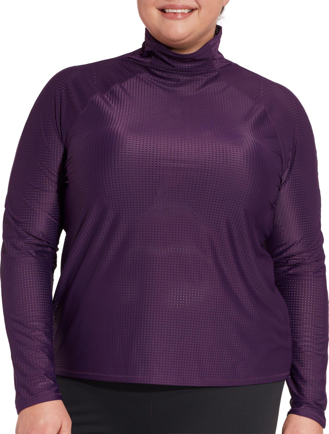 CALIA by Carrie Underwood Women's Plus Size Mesh Long Sleeve Shirt