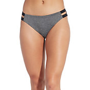 CALIA by Carrie Underwood Women's Solid Elastic Side Bikini Bottom