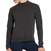 CALIA by Carrie Underwood Women's Effortless Heather Mock Neck Sweater
