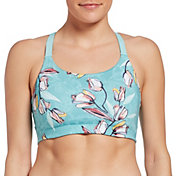 CALIA by Carrie Underwood Women's Power Printed Open Back Sports Bra