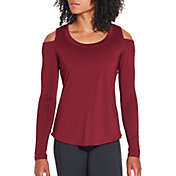 CALIA by Carrie Underwood Women's Cold Shoulder Long Sleeve Shirt