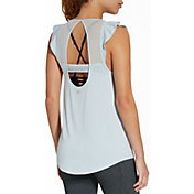 CALIA by Carrie Underwood Women's Ruffle Shoulder Tank Top