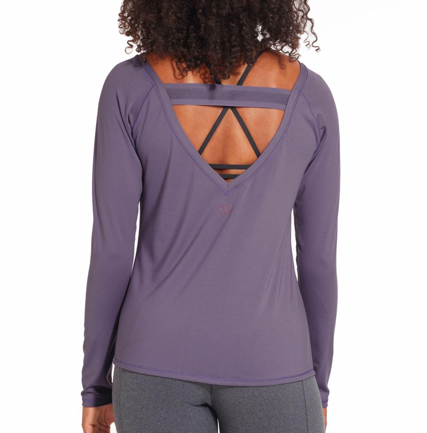 CALIA by Carrie Underwood Women's Elastic Back Long Sleeve Shirt