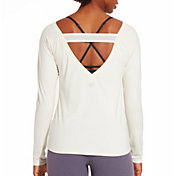 CALIA by Carrie Underwood Women's Elastic Back Long Sleeve Shirt
