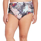 CALIA by Carrie Underwood Women's Plus Size High Waist Printed Bikini Bottoms