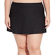 CALIA by Carrie Underwood Women's Plus Size Jacquard Swim Skirt