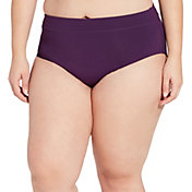 CALIA by Carrie Underwood Women's Plus Size Wide Banded Bikini Bottoms