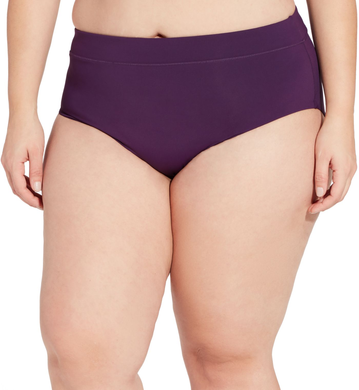 CALIA by Carrie Underwood Women's Plus Size Wide Banded Bikini Bottoms