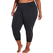 CALIA by Carrie Underwood Women's Plus Size Essentials Open Slit Capris