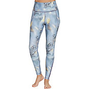 CALIA by Carrie Underwood Women's Essential Printed High Waist Ruched Leggings
