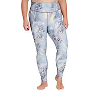 CALIA by Carrie Underwood Women's Plus Size Essential Printed High Waist Ruched Leggings