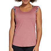 CALIA by Carrie Underwood Women's Move Ruffle Detail Tank Top