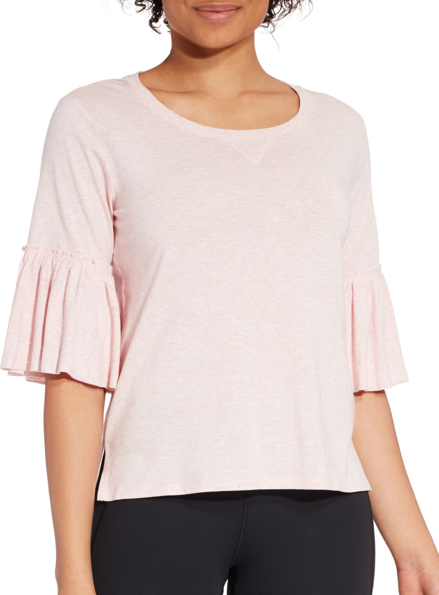 CALIA by Carrie Underwood Women's Heather Ruffle T-Shirt