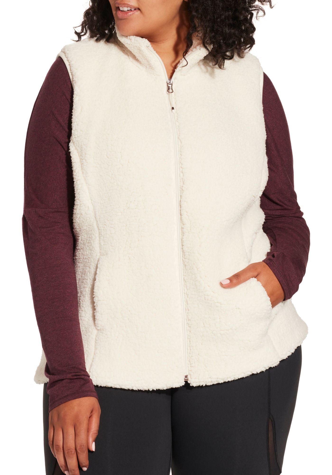 CALIA by Carrie Underwood Women's Plus Size Sherpa Vest