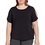 CALIA by Carrie Underwood Women's Plus Size Twist Sleeve T-Shirt