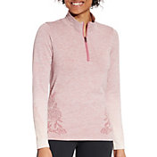 CALIA by Carrie Underwood Women's Seamless 1/4 Zip Long Sleeve Shirt
