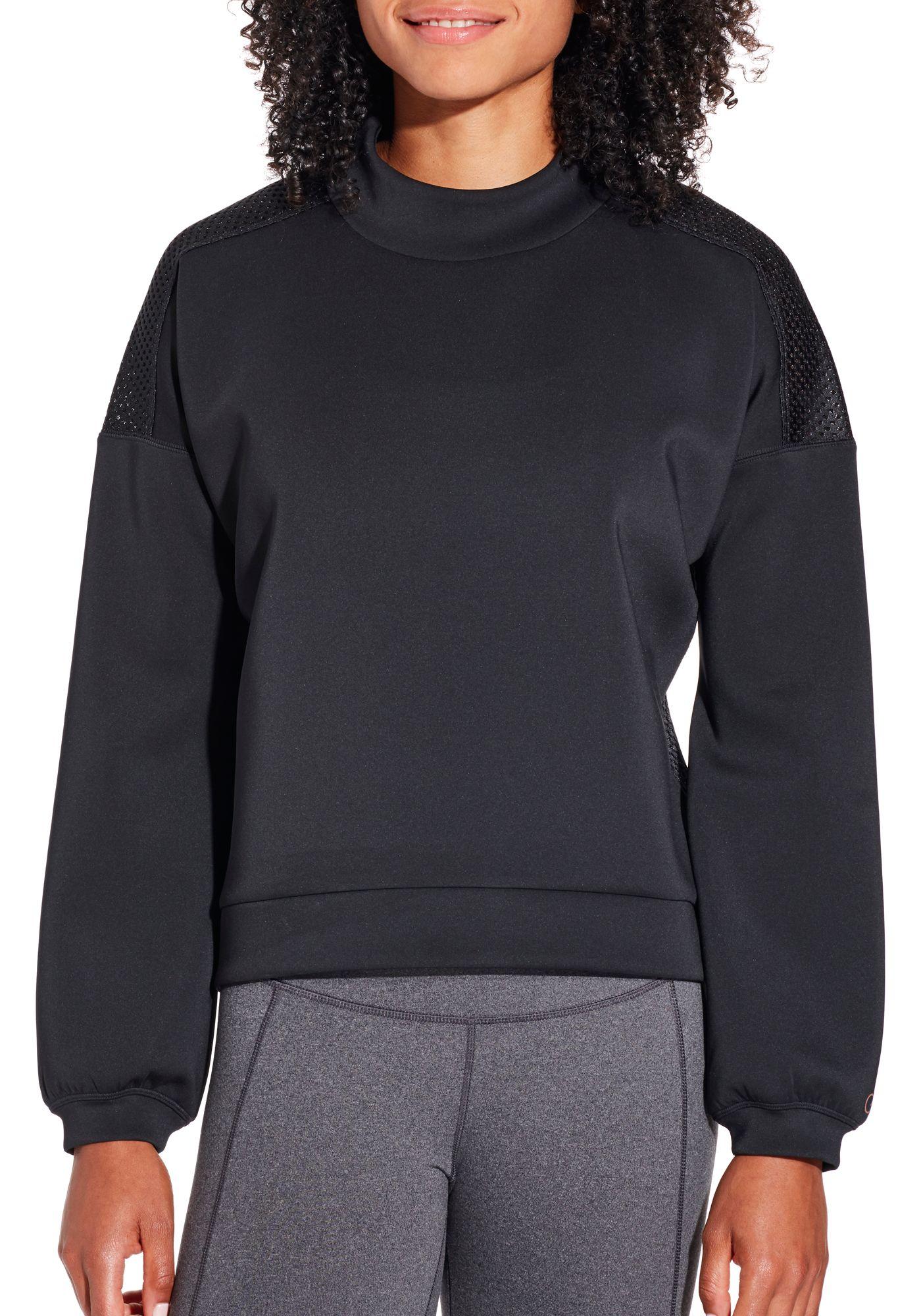 CALIA by Carrie Underwood Women's Mesh Back Pullover Sweatshirt