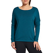 CALIA by Carrie Underwood Women's Heather Split Back Dolman Long Sleeve Shirt