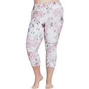 CALIA by Carrie Underwood Women's Plus Size Printed Essential No Seam Capris