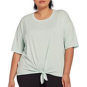 CALIA by Carrie Underwood Women's Plus Size Tie Front T-Shirt