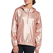 CALIA by Carrie Underwood Women's Anywhere Metallic Foil Perforated Half Zip Jacket