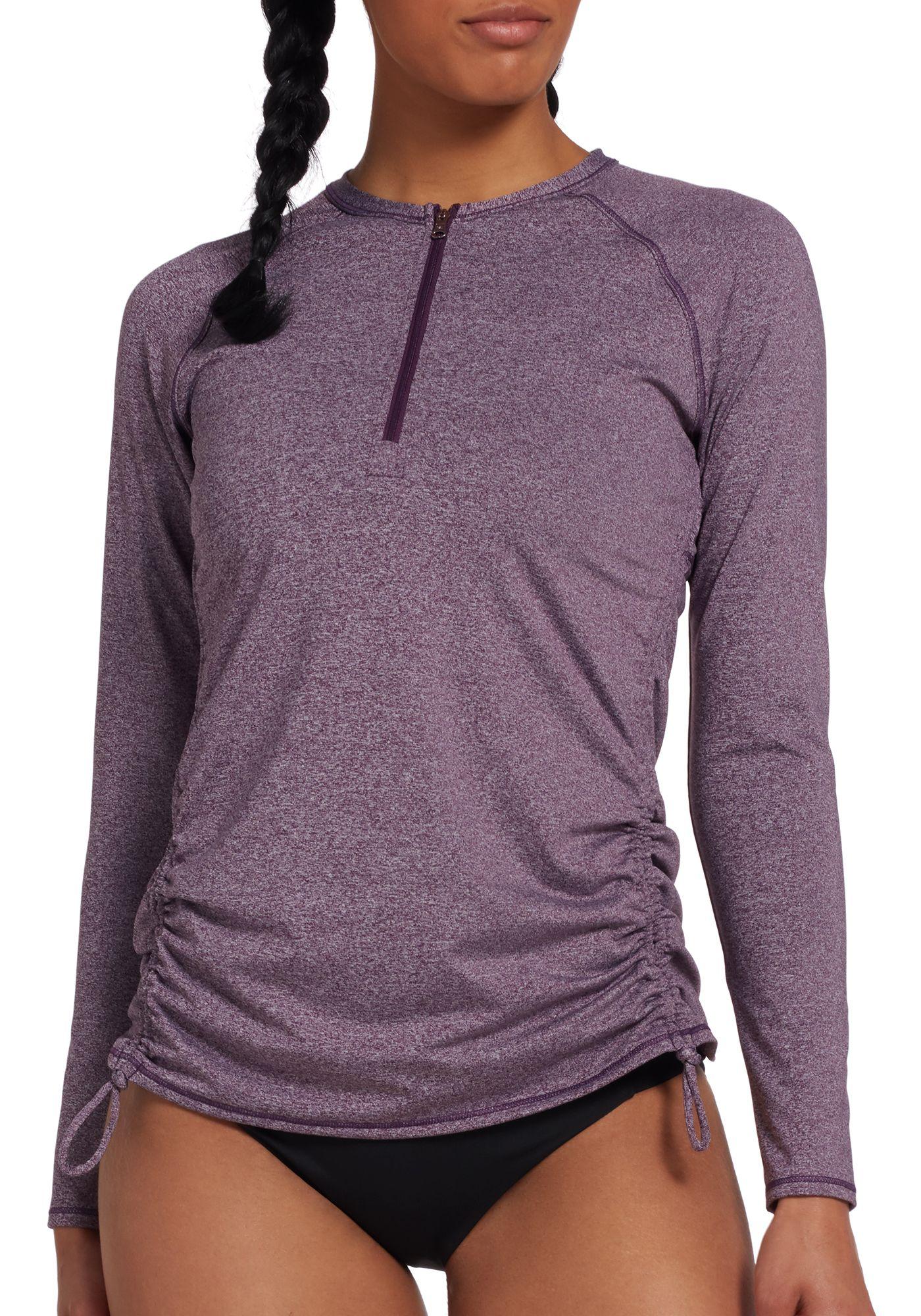 CALIA by Carrie Underwood Women's Zip Up Long Sleeve Rash Guard