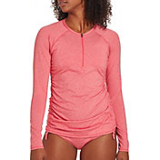 CALIA by Carrie Underwood Women's Zip Up Long Sleeve Rash Guard