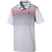 PUMA Men's Highlight Stripe Golf Polo