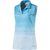 PUMA Women's Sleeveless Gradient Golf Polo