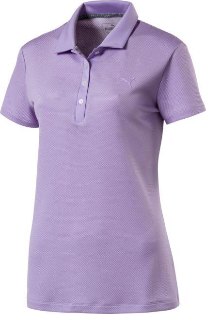 PUMA Women's Jacquard Dot Golf Polo