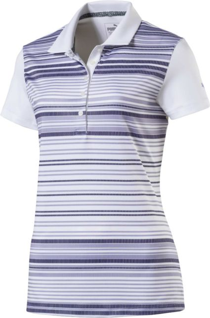 PUMA Women's Full Stripe Road Map Golf Polo