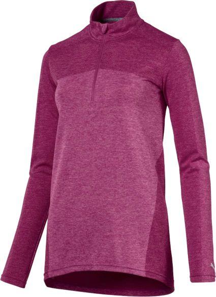 PUMA Women's Evoknit Seamless ¼-Zip Golf Pullover