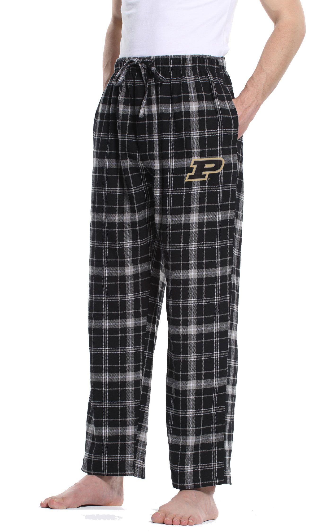 Concepts Sport Men's Purdue Boilermakers Black/Grey Ultimate Sleep Pants