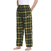 Concepts Sport Men's Wright State Raiders Green/Gold Ultimate Sleep Pants