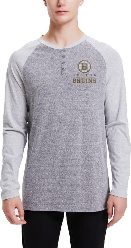 55070a197 Concepts Sport Men s Boston Bruins Homestretch Heather Grey Long Sleeve  Shirt