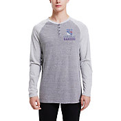 Concepts Sport Men's New York Rangers Homestretch Heather Grey Long Sleeve Shirt