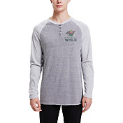 Concepts Sport Men's Minnesota Wild Homestretch Heather Grey Long Sleeve Shirt