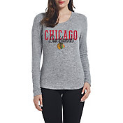 Concepts Sport Women's Chicago Blackhawks Reprise Heather Grey Long Sleeve Shirt