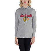 Concepts Sport Women's Chicago Blackhawks Cowl Neck Heather Grey Long Sleeve Shirt