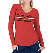 Concepts Sport Women's Chicago Blackhawks Ladies Red Long Sleeve V-Neck Shirt
